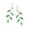 Gold Plated Sterling Silver Olive Leaf Drop Earrings