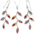 925 Sterling Silver Olive Leaf Jewelry Set Handmade Necklace and Earrings - NanoStyle Jewelry
