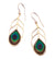 Gold Plated Sterling Silver Peacock Feather Drop Earrings - NanoStyle Jewelry