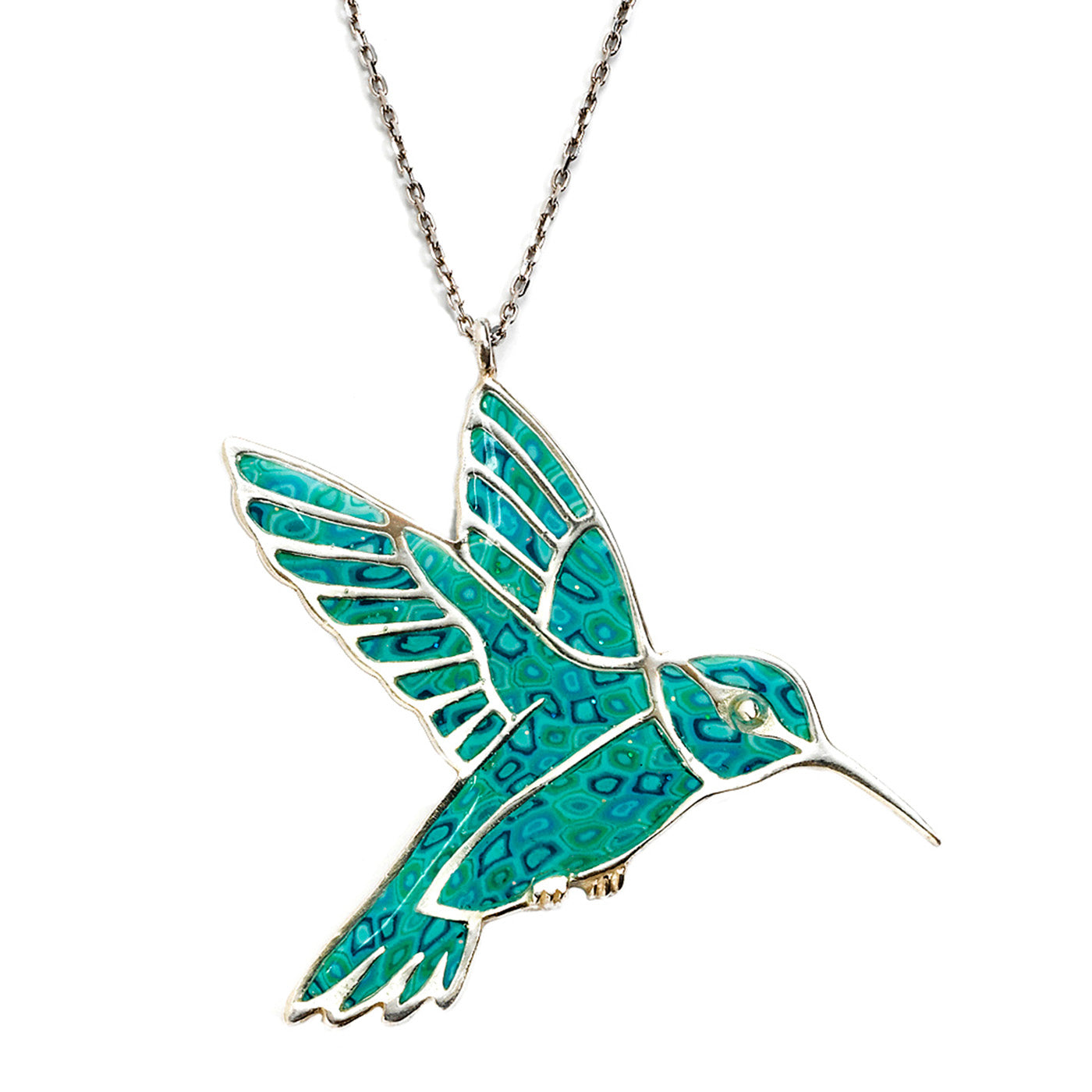 lily gold and necklace charmed bird carat sapphire humming jewellery personalised hummingbird