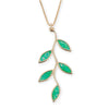 Gold Plated Sterling Silver Olive Leaf Necklace Pendant - NanoStyle Jewelry