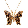 Gold Plated 925 Sterling Silver Butterfly Necklace Handcrafted Pendant - NanoStyle Jewelry