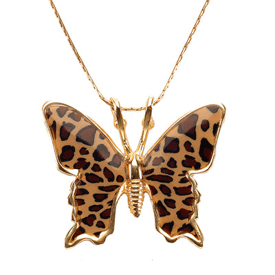 Gold Plated 925 Sterling Silver Butterfly Necklace Handcrafted Pendant