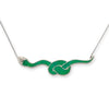 925 Sterling Silver Snake Necklace Pendant - NanoStyle Jewelry