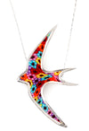 925 Sterling Silver Swallow Necklace Bird Pendant