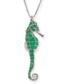 925 Sterling Silver Seahorse Necklace Handcrafted Pendant - NanoStyle Jewelry