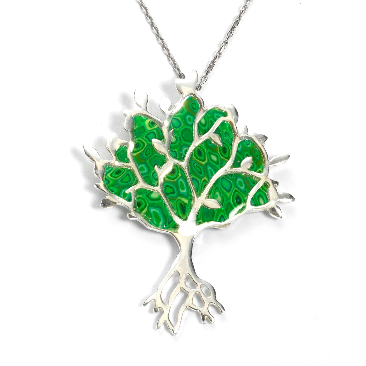 jack in of necklace silver gold plate and tree sterling keith life yellow