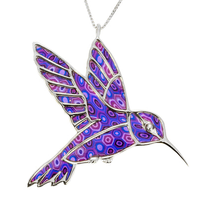 925 Sterling Silver Hummingbird Necklace Handcrafted Pendant - NanoStyle Jewelry
