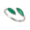 925 Sterling Silver Olive Leaf Wrap Ring Adjustable Sizes 6 - 7