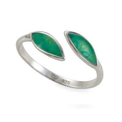 925 Sterling Silver Olive Leaf Wrap Ring Adjustable Sizes 6 - 7 - NanoStyle Jewelry