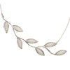 925 Sterling Silver Large Olive Leaf Necklace Pendant