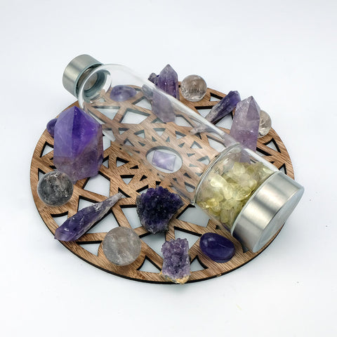 Crystal Water Bottle Stones