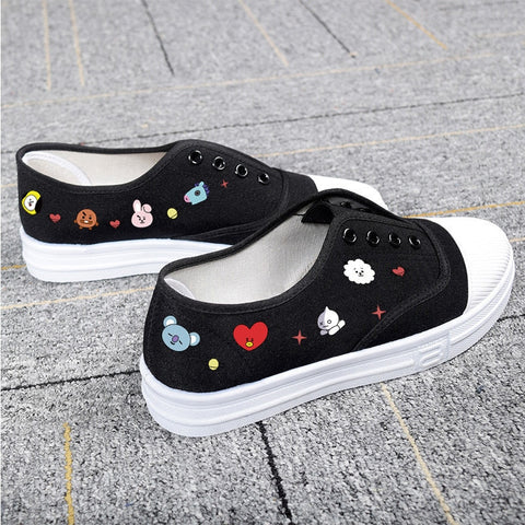 New BT21 Canvas Shoes - BTS Merch