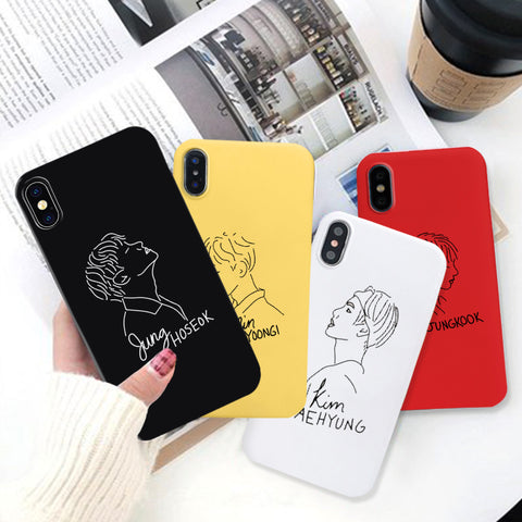 BTS Drawing Illustration Phone Case for iPhone - BTS Merch