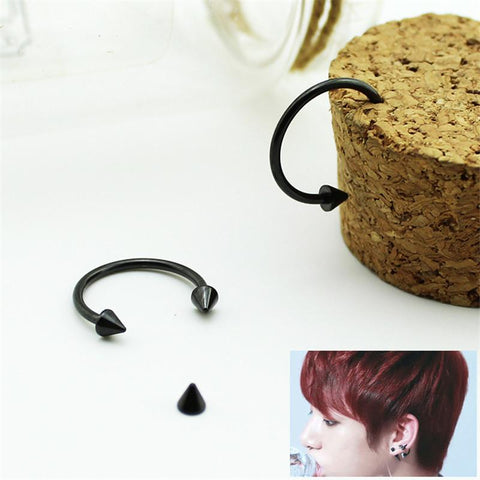 BTS Black Stud Earrings - BTS Merch | Premium BTS merchandise