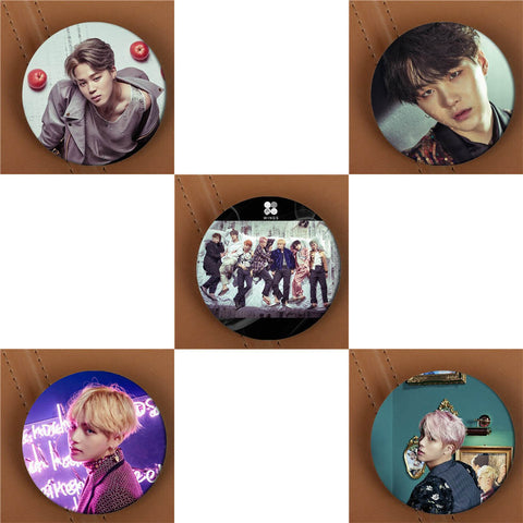 BTS WINGS ALBUM Brooch Circular Pin - BTS Merch