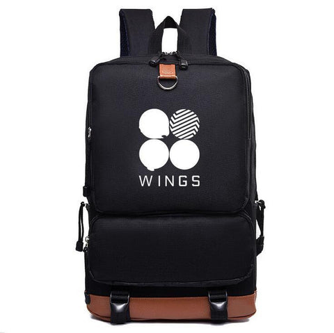 BTS Wings Style Canvas Backpack - BTS Merch
