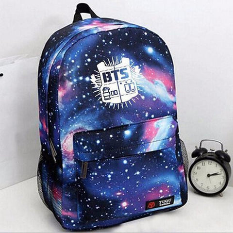 BTS Galaxy Print Backpacks - BTS Merch