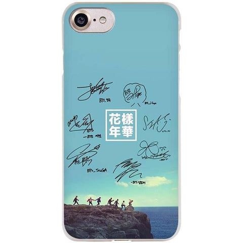 BTS Autographed Phone Case for Apple iPhone - BTS Merch | Premium BTS merchandise