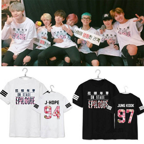 BTS Cherry Striped EPILOGUE T-Shirt - BTS Merch