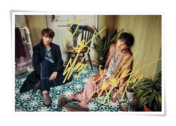 Original JUNG KOOK and SUGA  Autographed Photo [Limited Edition] - BTS Merch | Premium BTS merchandise