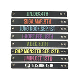 BTS Members Birthday Wristband - BTS Merch