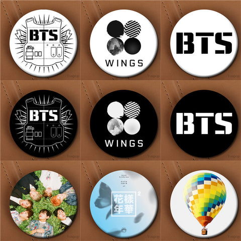 BTS Emblem Brooch Pin - BTS Merch