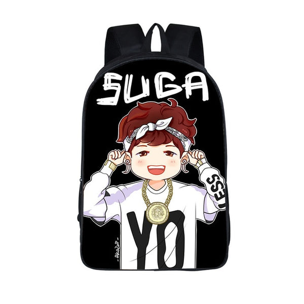BTS Anime Style Backpack