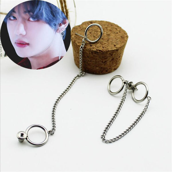 BTS V DNA Earrings - BTS Merch