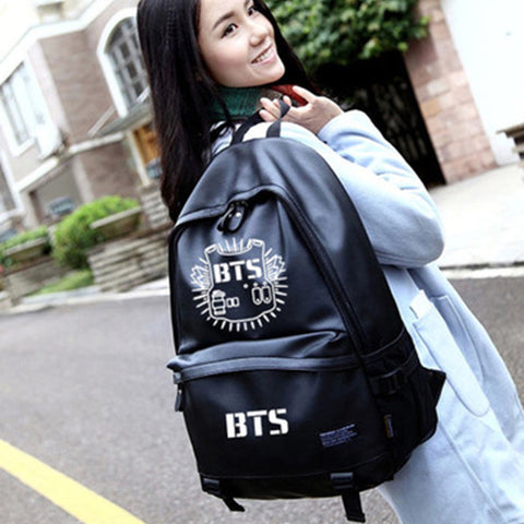 BTS Leather Backpack - BTS Merch