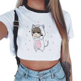 BTS Cartoon Printed Cropped Tops - BTS Merch