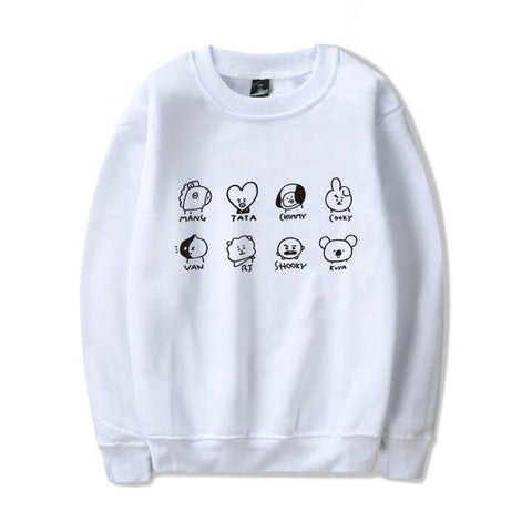 BT21 Characters Pullovers - BTS Merch