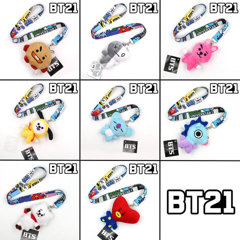 BT21 Plush Toy w/ Lanyard | Collectibles - BTS Merch