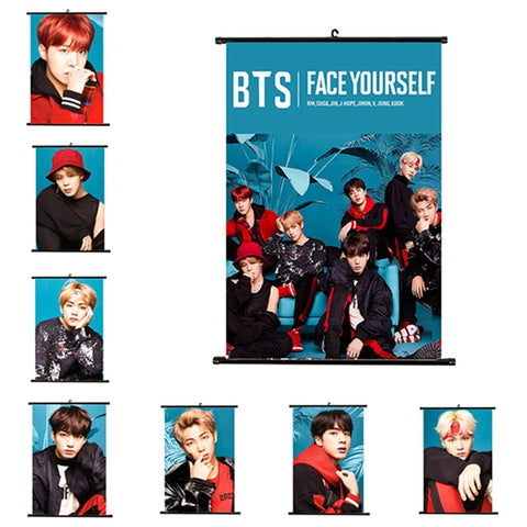 BTS Face Yourself Wall Scroll Decor - BTS Merch