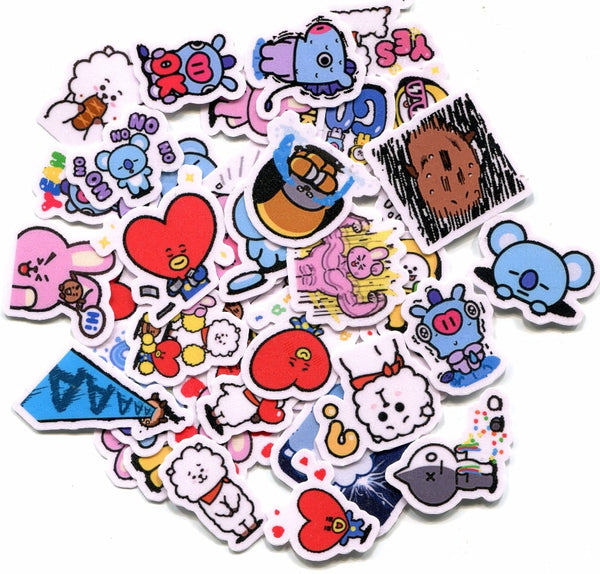 BT21 Cute Stickers 40pcs
