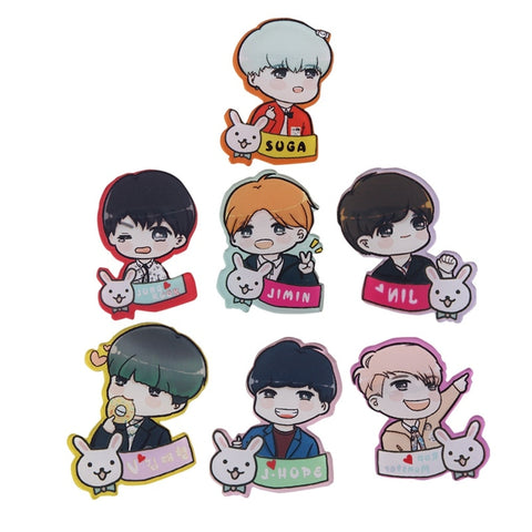 BTS Cute Brooch Pins for Clothes - BTS Merch
