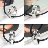 BTS Members Engraved Ring Necklace