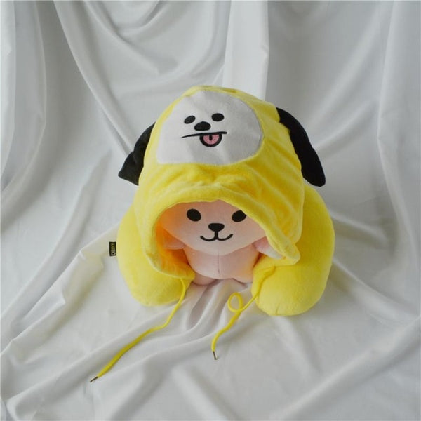 BT21 Cute Hooded Neck Pillow
