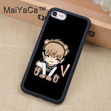 Cute BTS Chibi Rubber Phone Case for iPhone