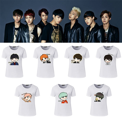 BTS Cute Anime T-Shirt - BTS Merch