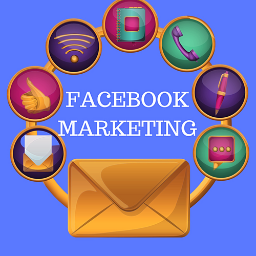 picture of marketing circle. How to market on facebook