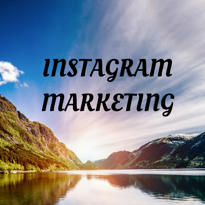 Photo of a river and mountains. Tips on instagram marketing.