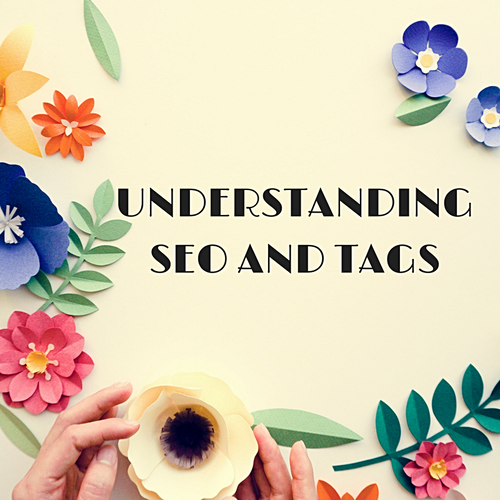 Lady holding coffee and flowers. Understanding SEO and TAGS
