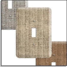 burlap switchplates