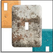 Concrete switch plates