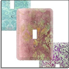 Whimsical Damask Switchplates