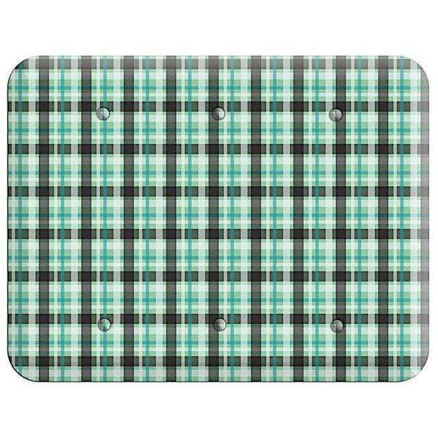 Multi Green Plaid 3 Blank Wallplate - Wallplatesonline.com