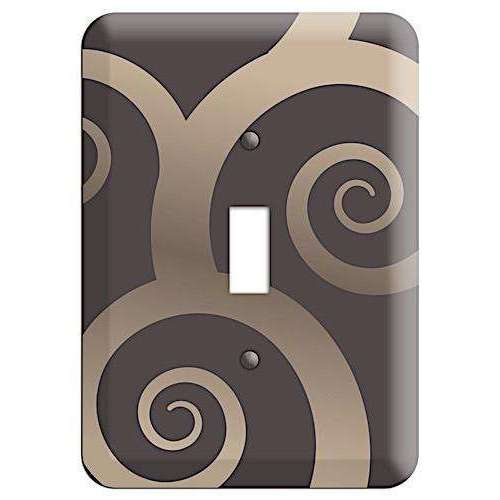 Brown With Beige Large Swirl Cover Plates Cover Plates