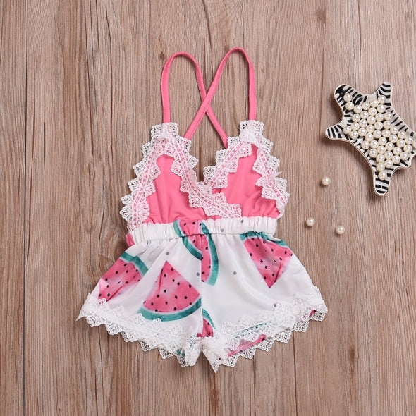 Watermelon Printed Romper