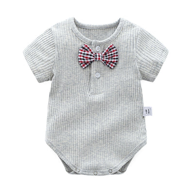 Short Sleeve Bodysuit With Bow Tie